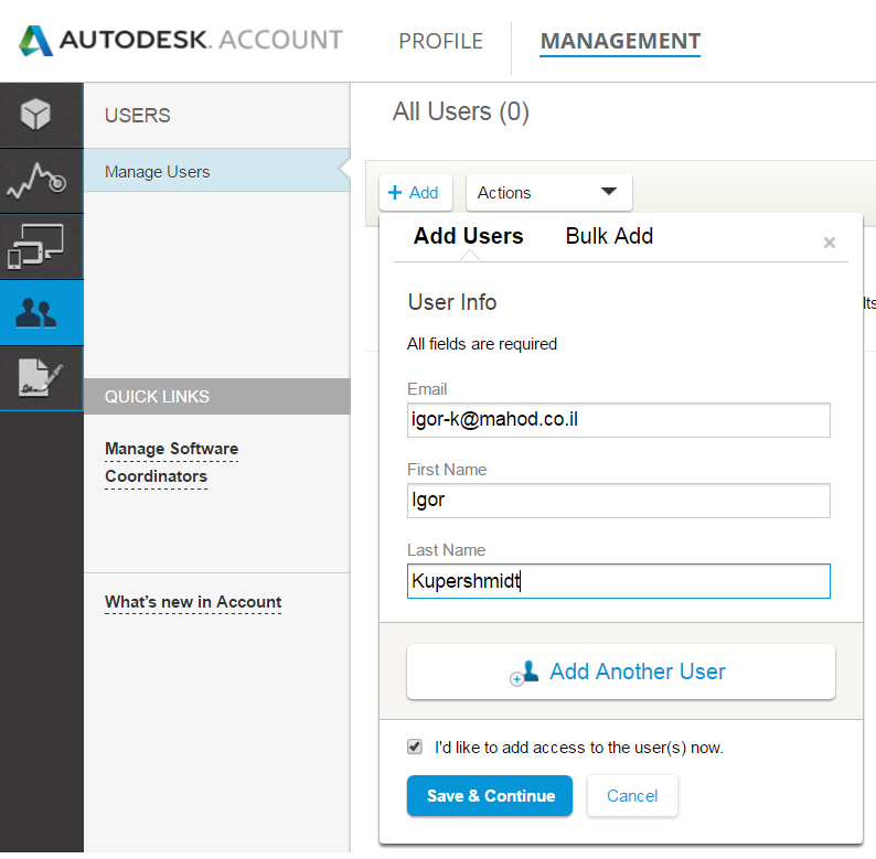 how to delete a autodesk account