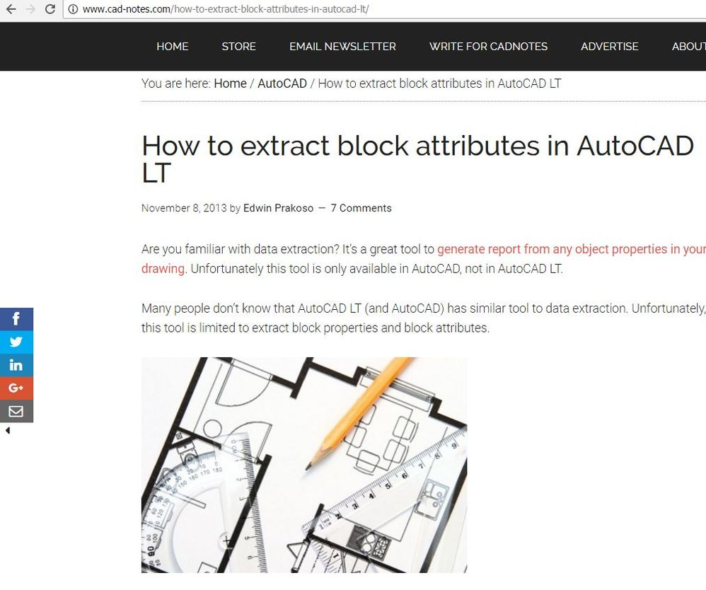 Solved: Extracting data in AutoCAD 2013 LT - Autodesk