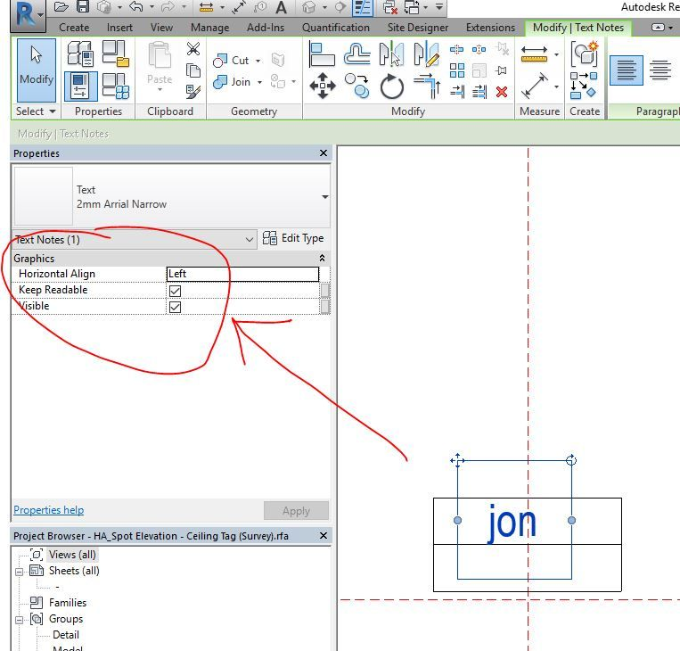Solved Revit 2017 Text In Spot Elevation Symbol Does Not Display