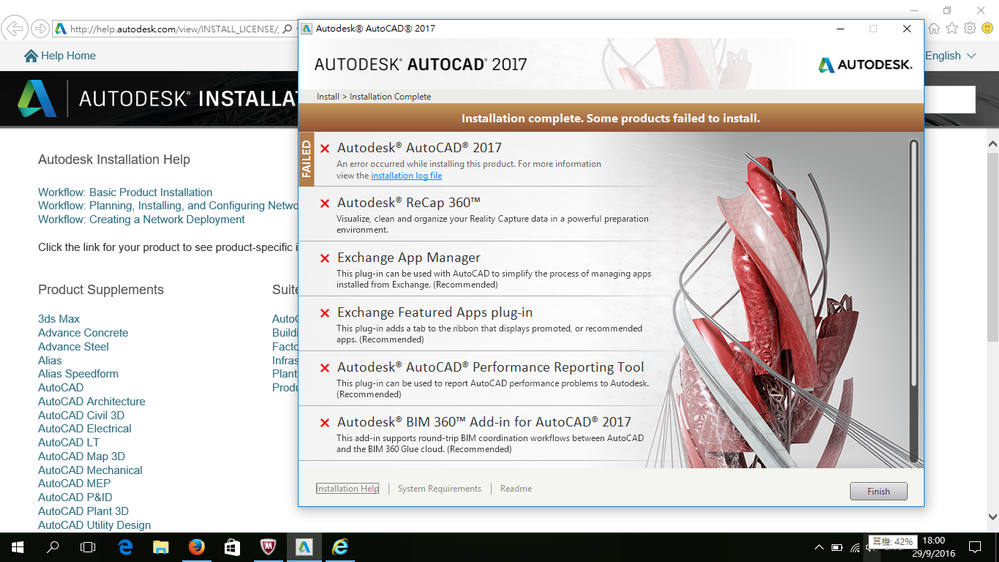 I can not install my AutoCad 2017 in my laptop - Autodesk