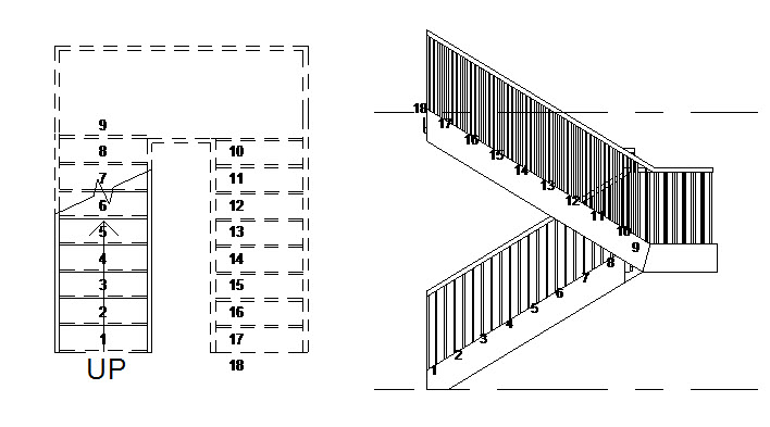 Solved: (2013) Stair Tread/Riser Number annotation