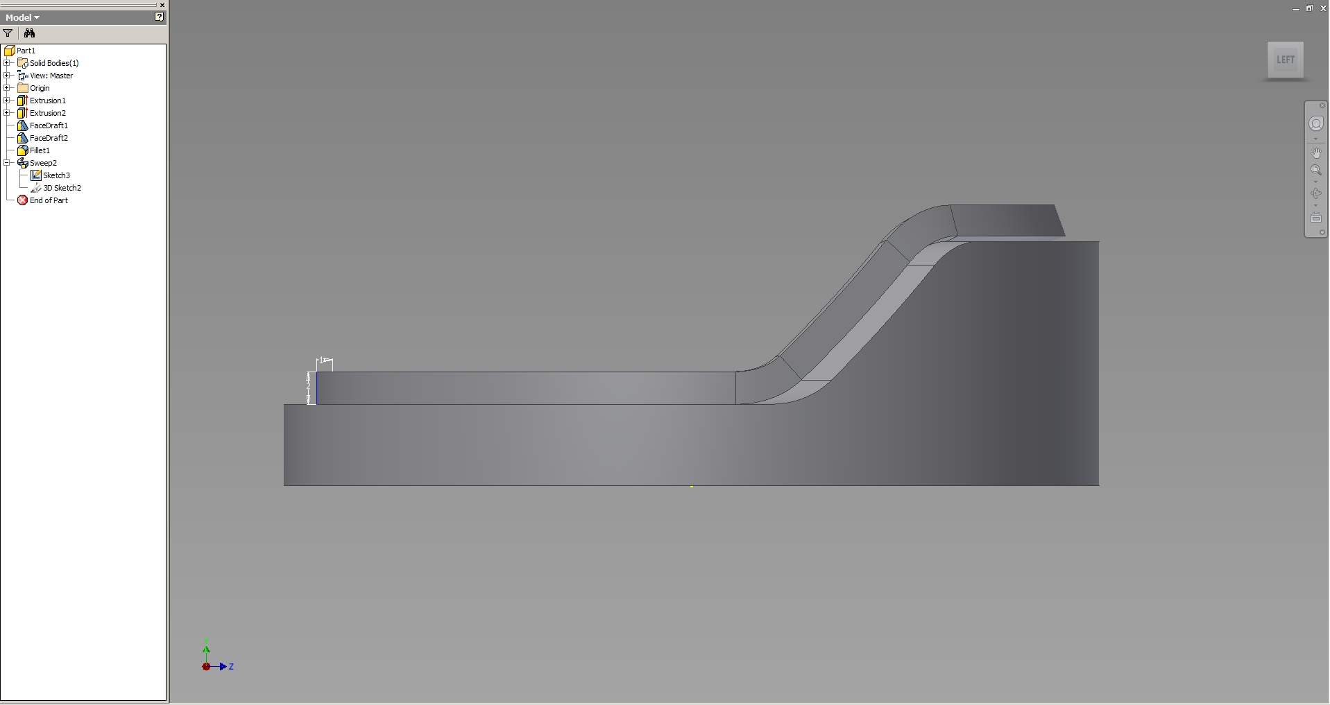 Solved: Sweep along feature edge - Autodesk Community- Inventor