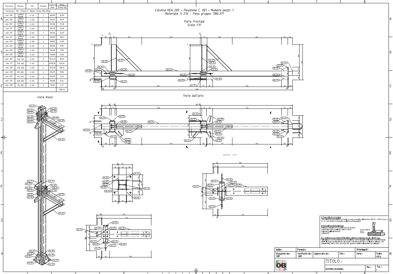 solved  assonometric view in assembly drawing