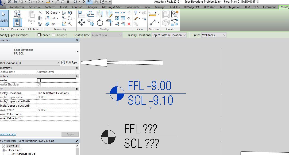 Spot Elevation Plan Revit : Spot elevations showing question marks autodesk community