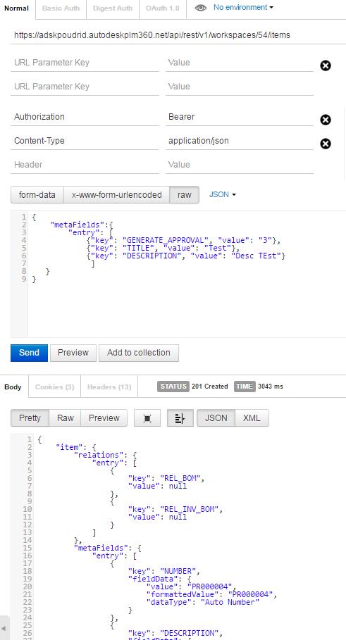 Solved: POST: Workspace Item using restapi in C# net 500