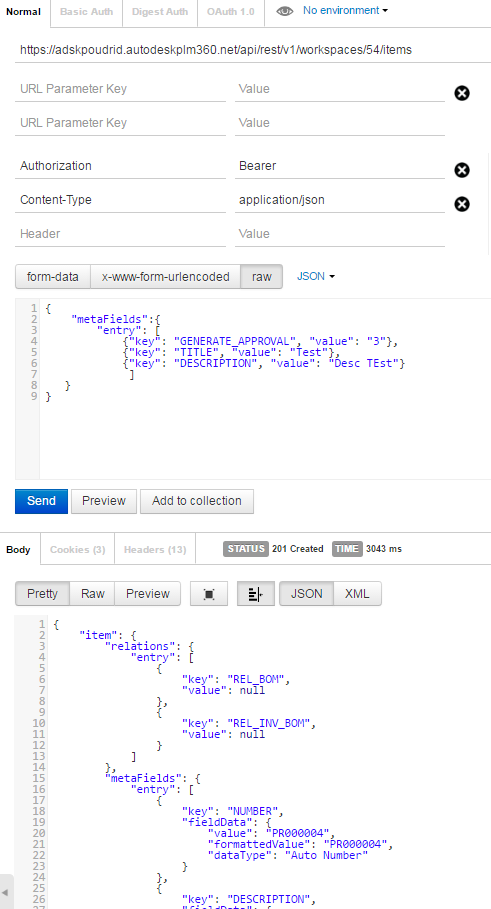Solved: POST: Workspace Item using restapi in C# net 500-Internal