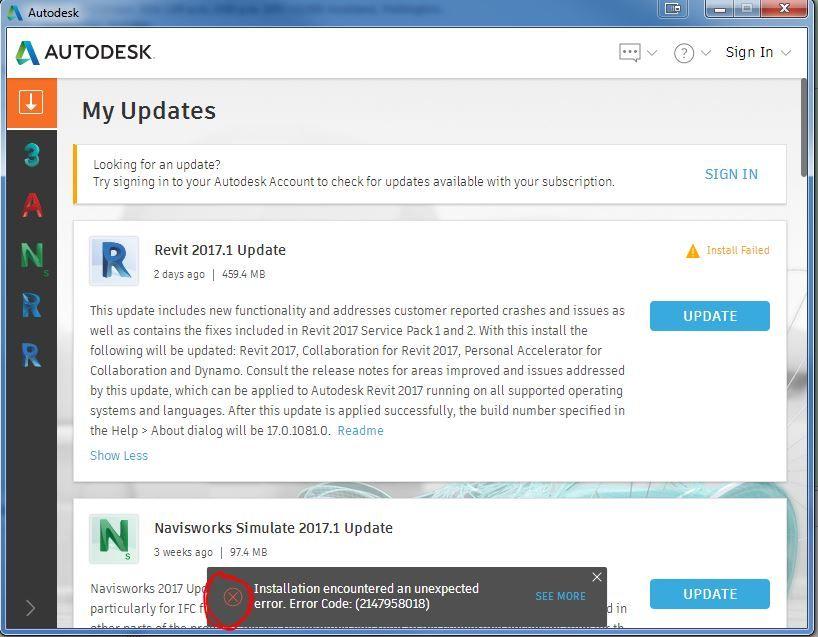 Solved: REVIT 2017 UPDATE ERROR - Autodesk Community- Revit