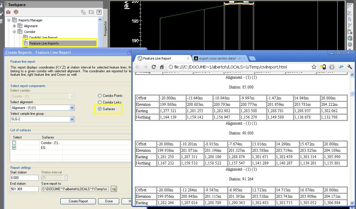 Solved: export cross section data? - Autodesk Community