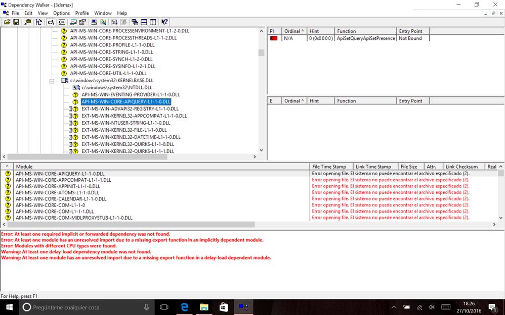 Error 0xc000007b - 3dsmax exe on Windows 10 - Autodesk Community