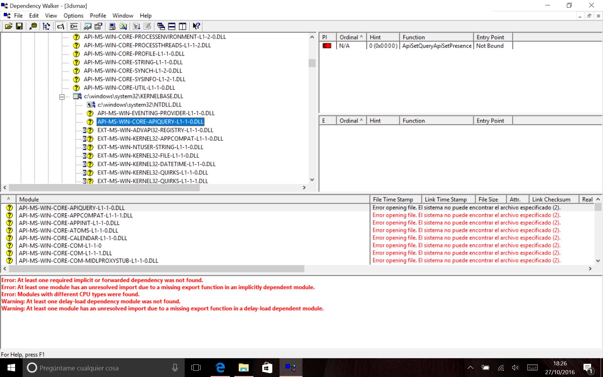 Error 0xc000007b - 3dsmax exe on Windows 10 - Autodesk