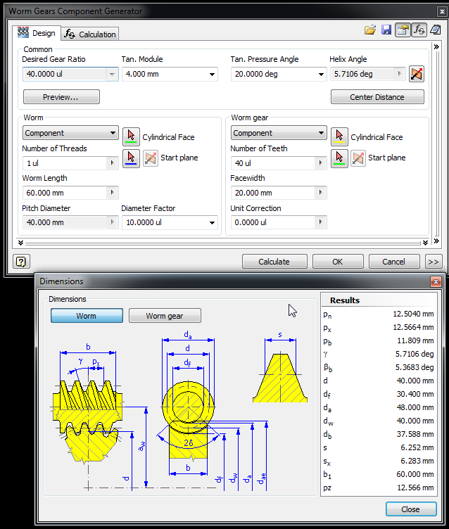 Help    the best way to Construct a Worm Gear - Autodesk Community