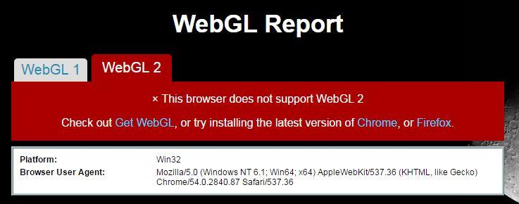 chrome webgl out of memory