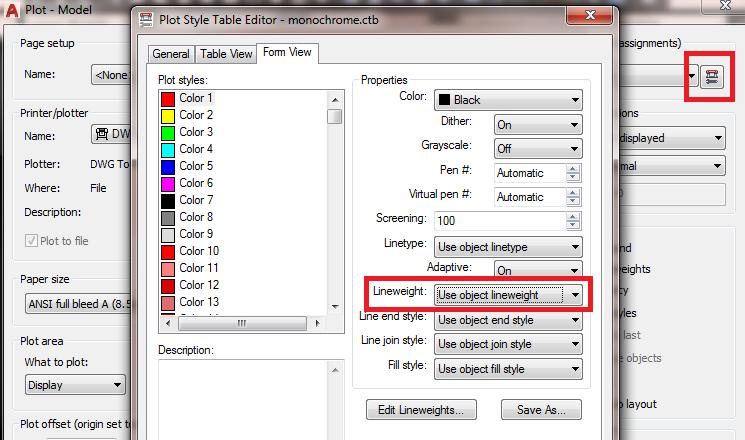 Plotting Lineweights in Monochrome - Autodesk Community- AutoCAD