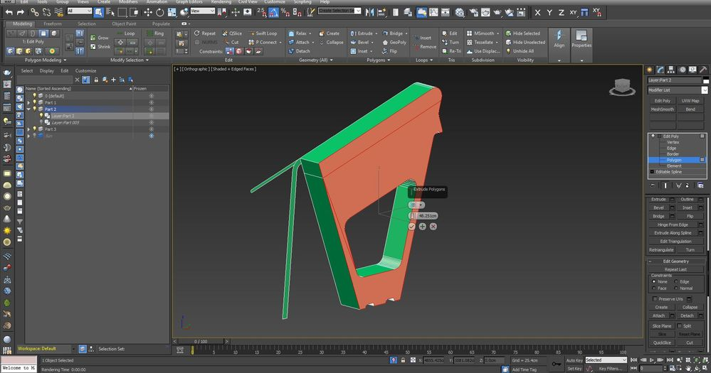 Solved: Problem with Extruding polygons - Autodesk Community- 3ds Max