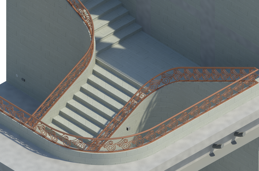 Solved How To Create Curved Railing Autodesk Community