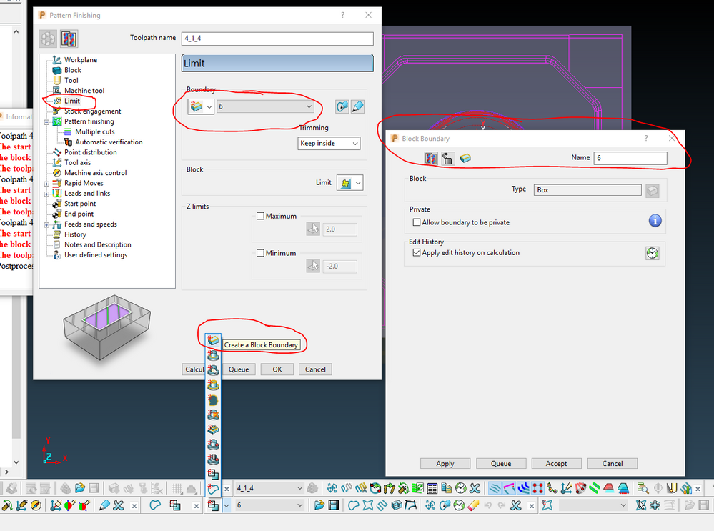Powermill Quot Limit To Block Mode Quot Autodesk Community