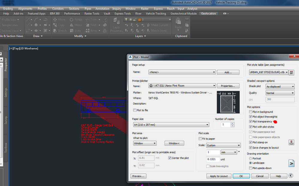 Civil 3D 2017, Problem printing with transparency - Autodesk