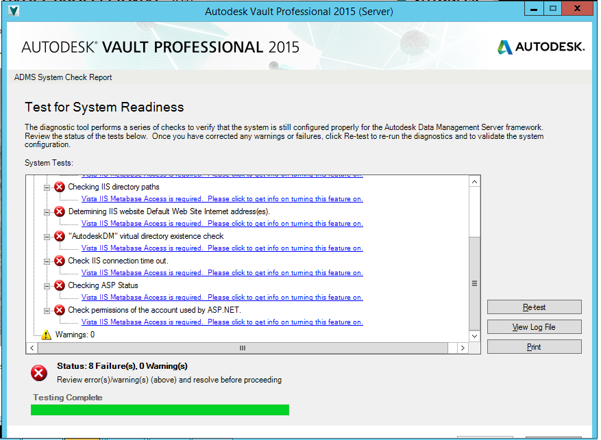 Problems installing with IIS and Vault 2015 - Autodesk Community- Vault