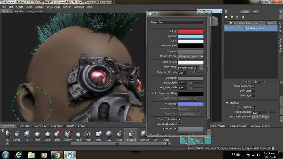 My 1st wip work with Mudbox 2017, very happy! - Autodesk