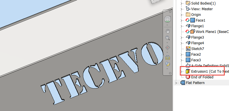 Solved: Text cut in sheetmetal part - Autodesk Community