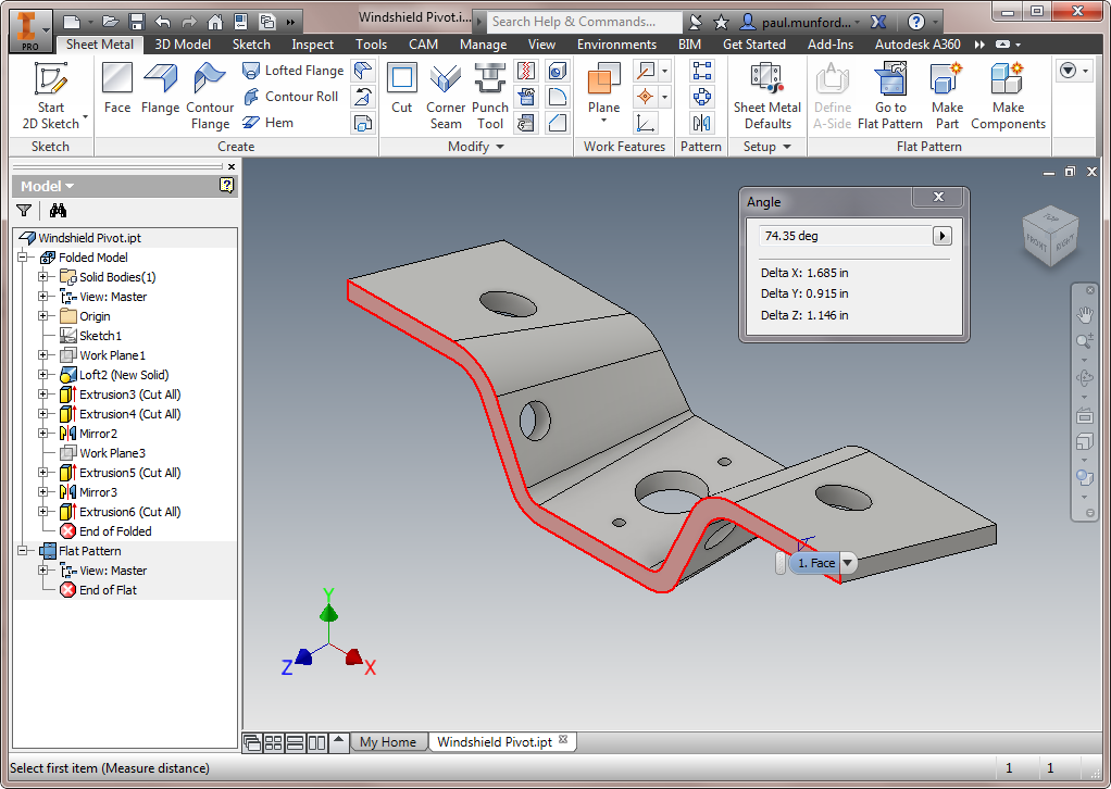 Solved Inventor 2016 Lofted Flange Won T Play Nice