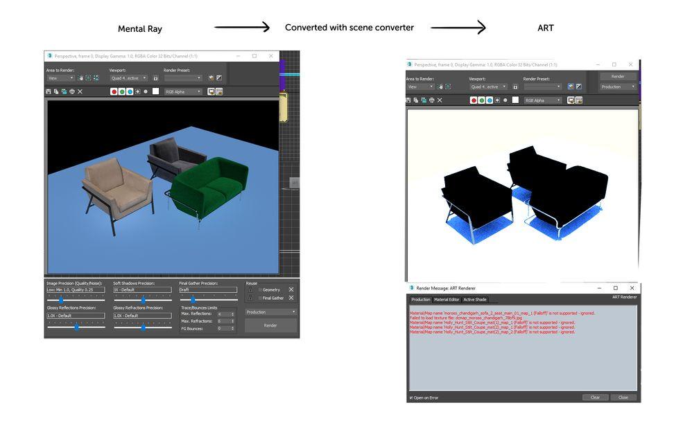 Convert materials for ART renderer - Autodesk Community- 3ds Max