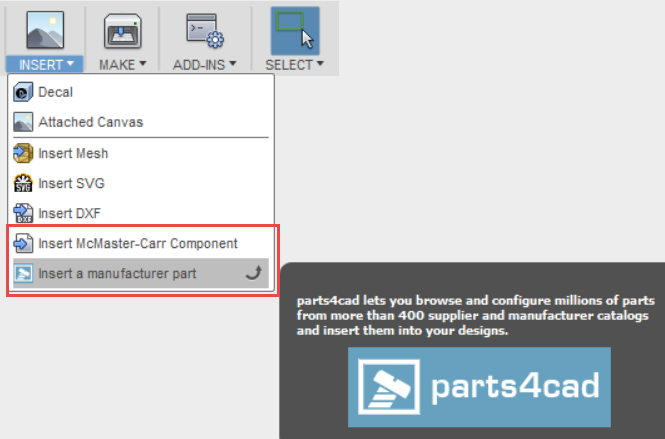 Solved: Fusion 360 equivalent for solidworks toolbox