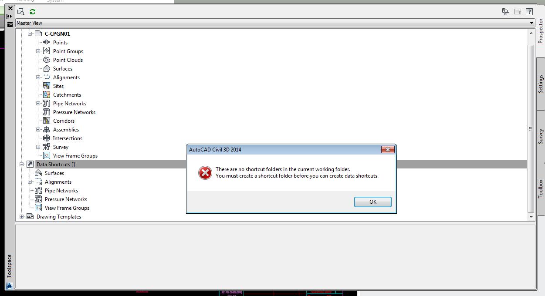 Solved: Shortcuts folder not recognized in Working folder