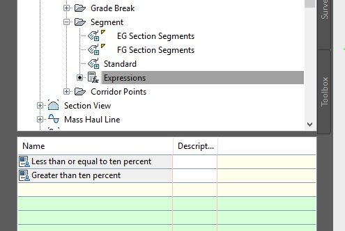how to find slope percent in autocad