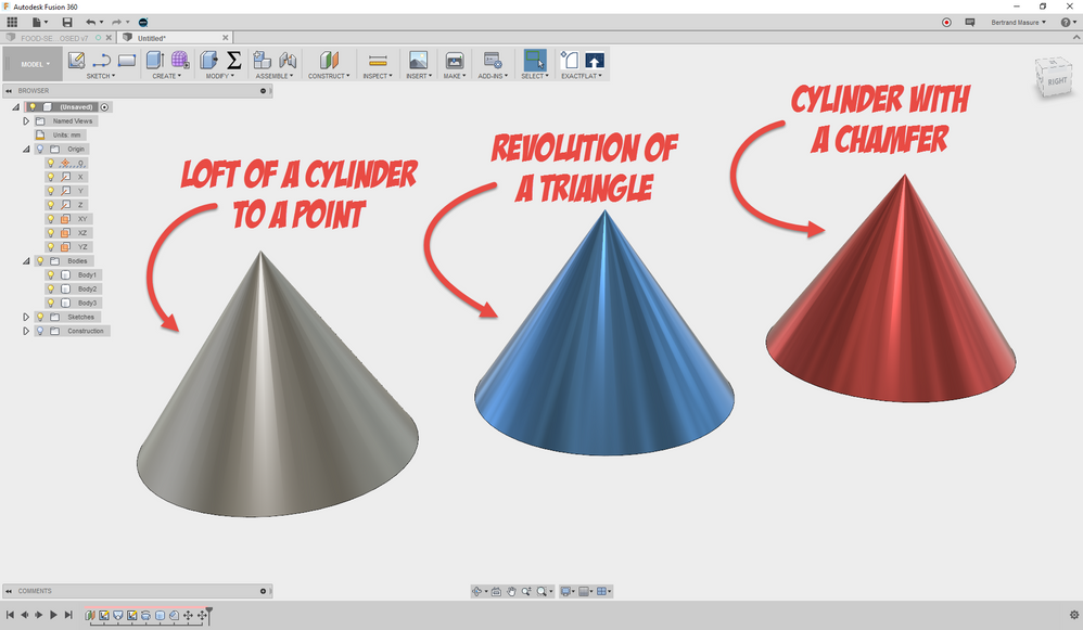 Solved: Help! How do you create a cone in fusion 360? - Autodesk