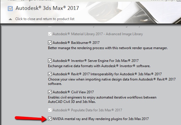 Solved: Another max 2017 Mental Ray installation issue - Autodesk