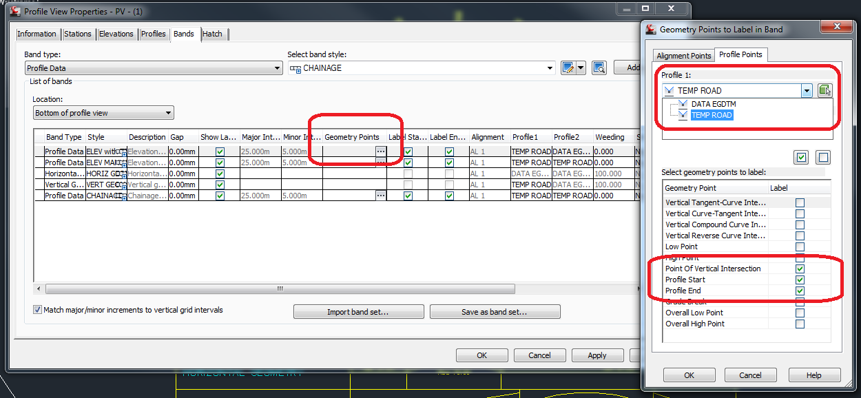 Solved: Profile View/Band - Autodesk Community- Civil 3D