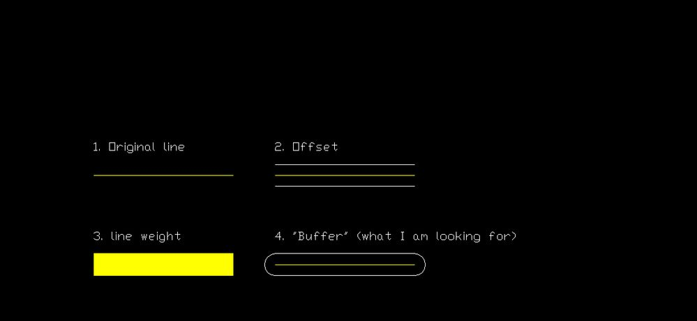 Solved: Buffer around open polyline/line/arc? - Autodesk
