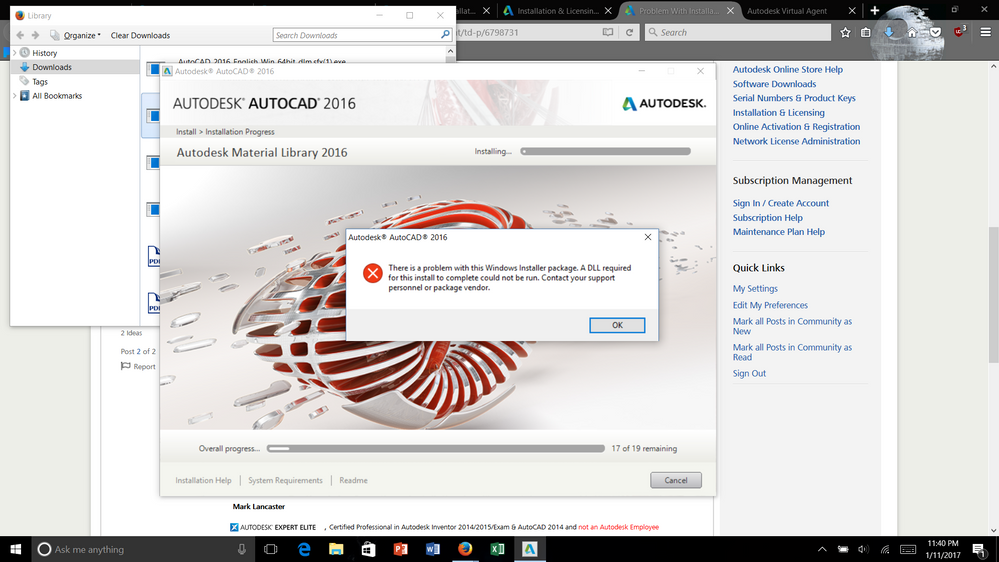 Problem With Installation Of Autocad 2017 For Student