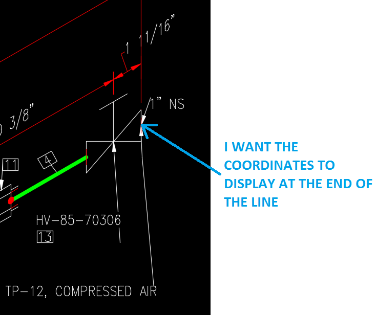 Autocad Drawing Lines With Coordinates : Solved how do i make the coordinates display at end