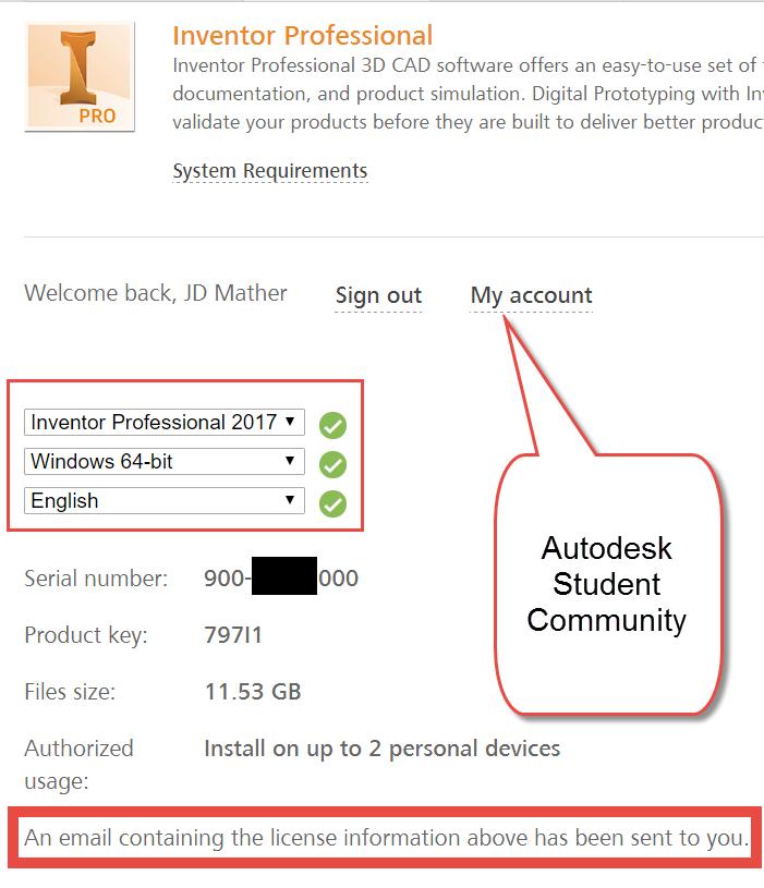 Student Trial Inventor Pro 2017 - Autodesk Community- Inventor
