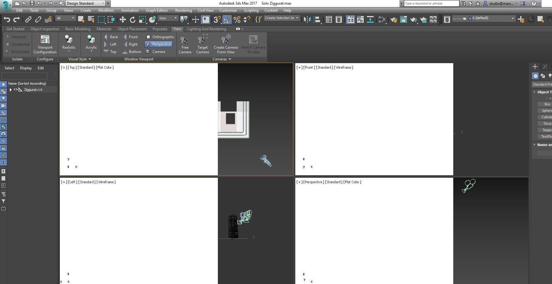 Solved: Strange white box in viewport at startup - Autodesk
