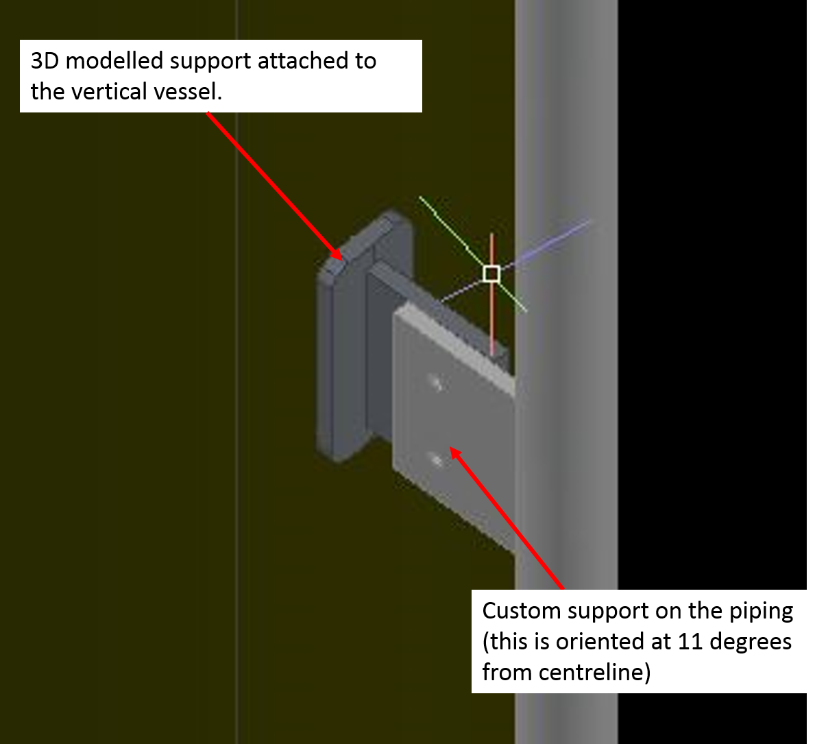 Pipe support elevation/dimension not showing up in isometric