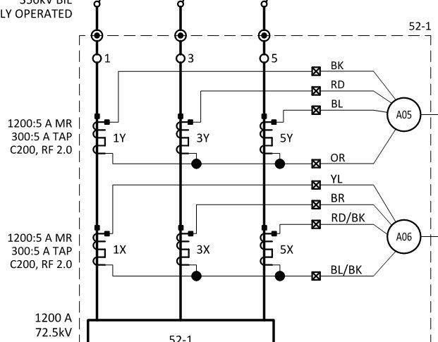Solved: Single Line to Three Line diagram symbols