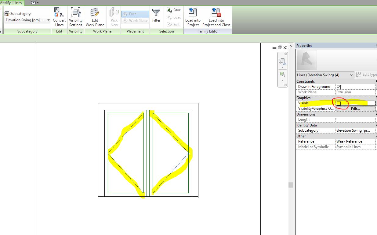 Solved Window Door Swing Lines Autodesk Community