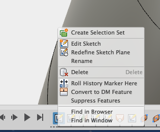 show hide dimension option in RMB menu in timeline for sketches