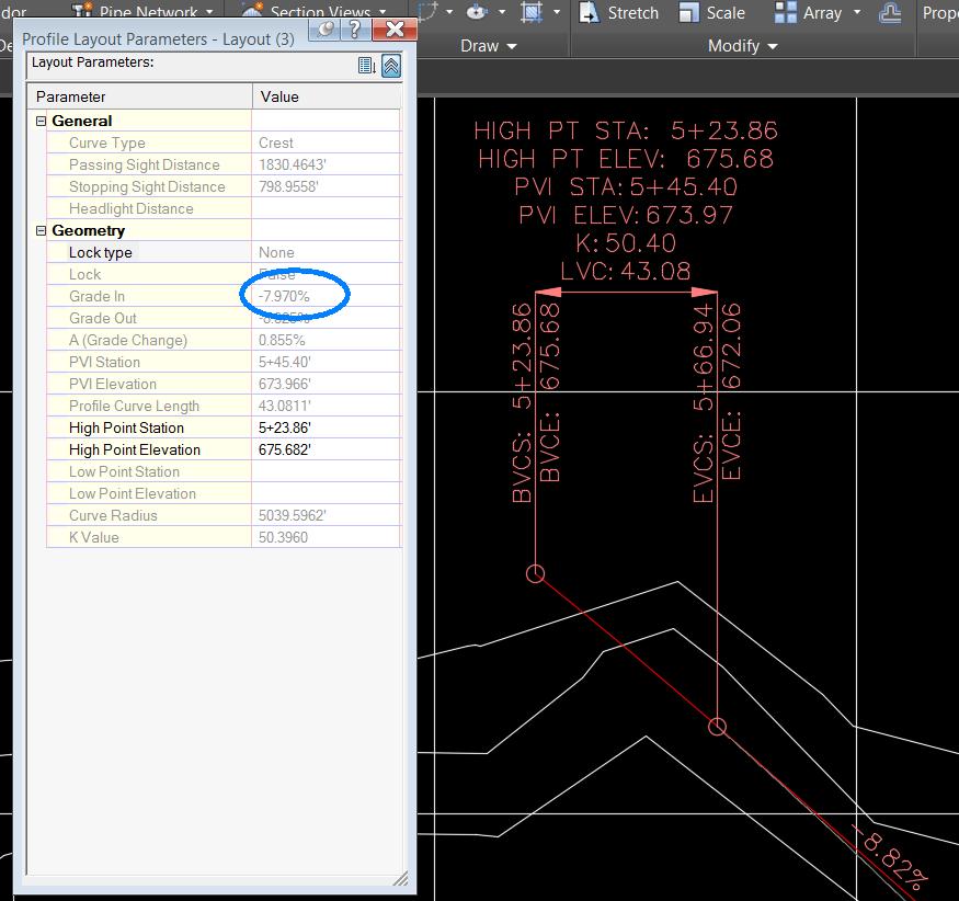 profile  vertical curve autodesk community