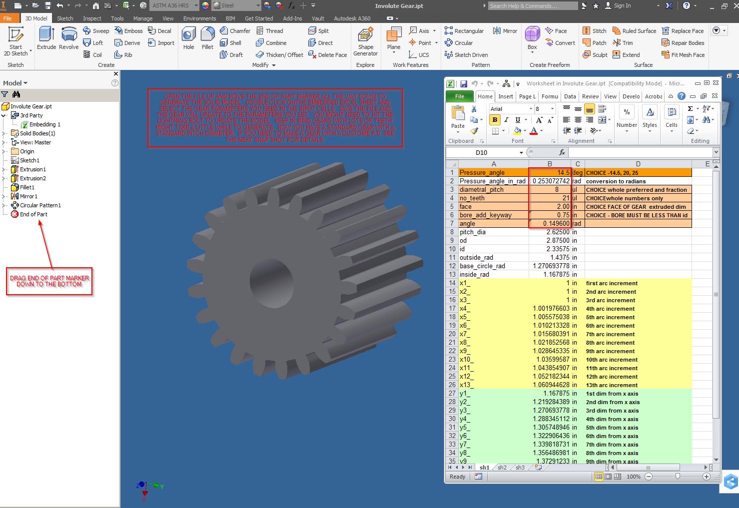 design accelerator spur gears autodesk community