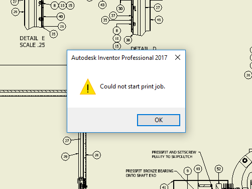 Solved: Could not start print job - Autodesk Community- Inventor