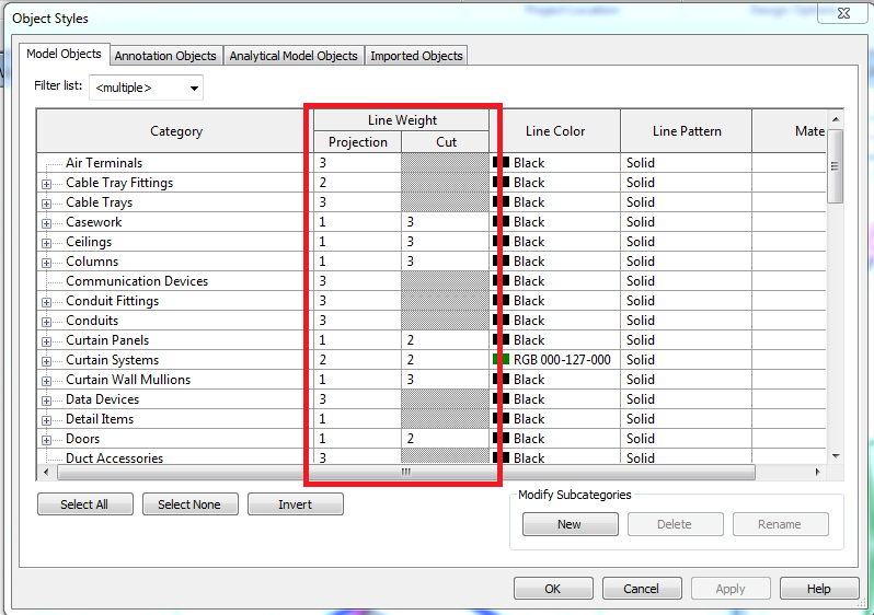how to change wall thickness on revit