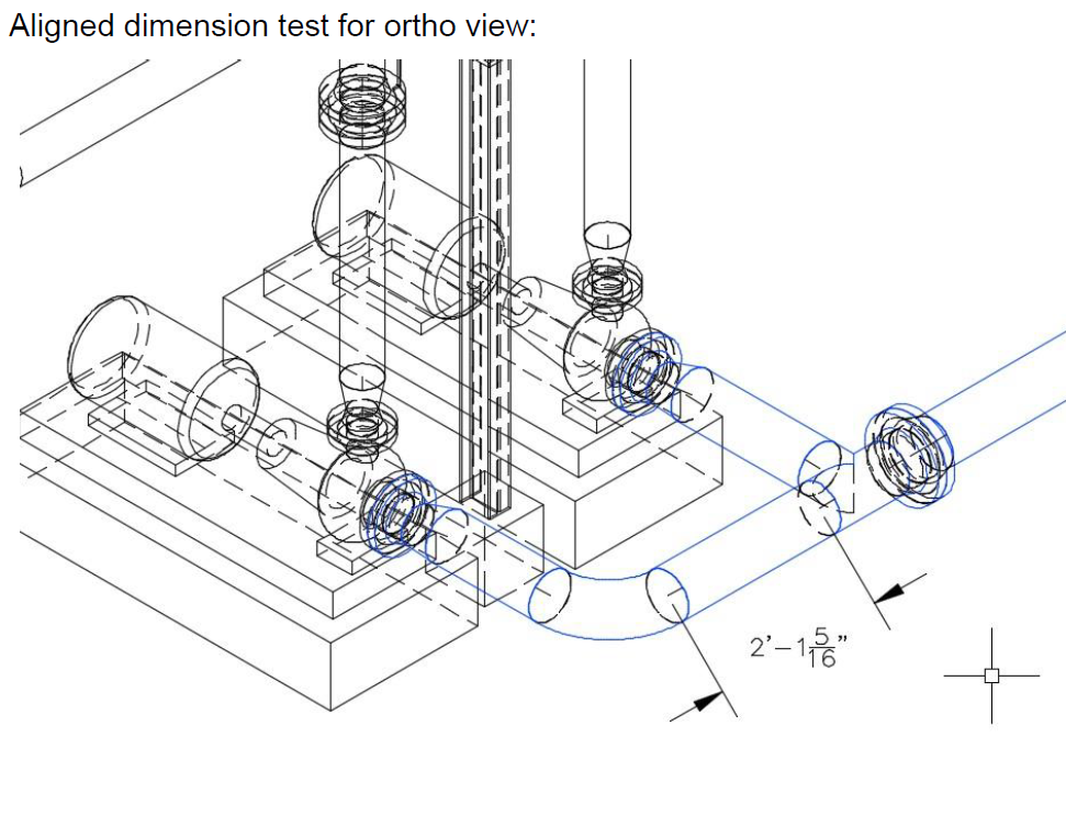 Dimensions for orthographic drawings in isometric