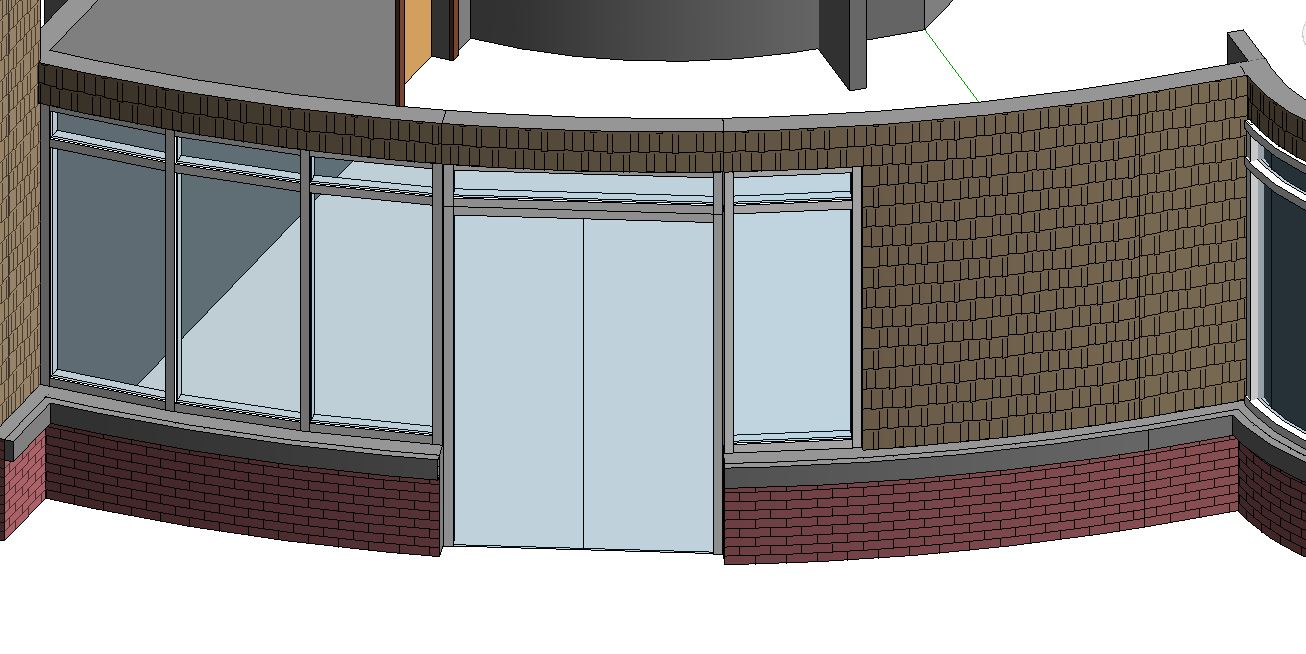 Inner Curtain Wall : Stacked walls inside curtain wall autodesk community