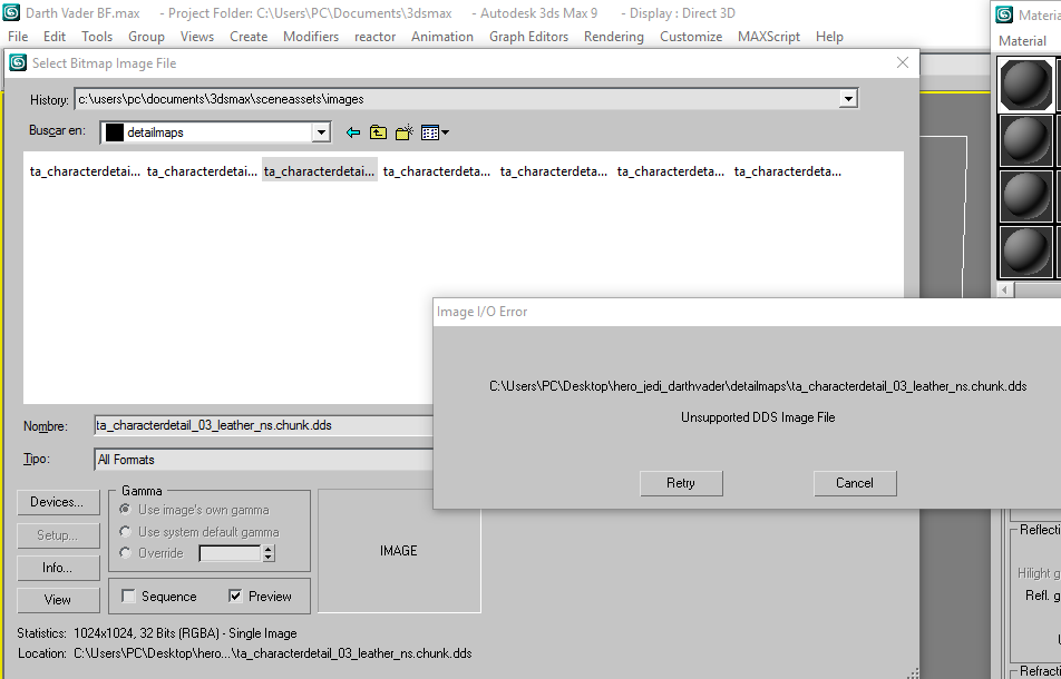 Solved: DDS Unsupported DDS Image File in English - Autodesk