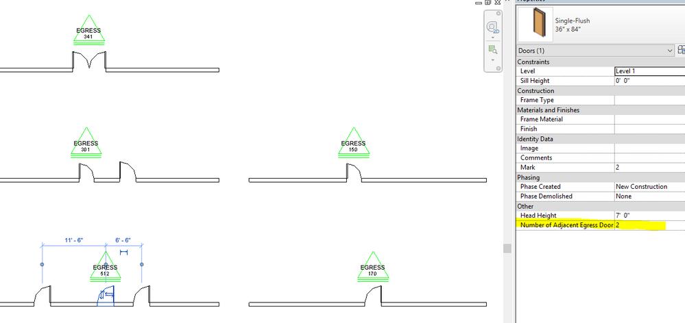 Door Egress Tag 2017.rvt 3796 KB  sc 1 st  Autodesk forums & Door tag for multiple identical doors? - Autodesk Community