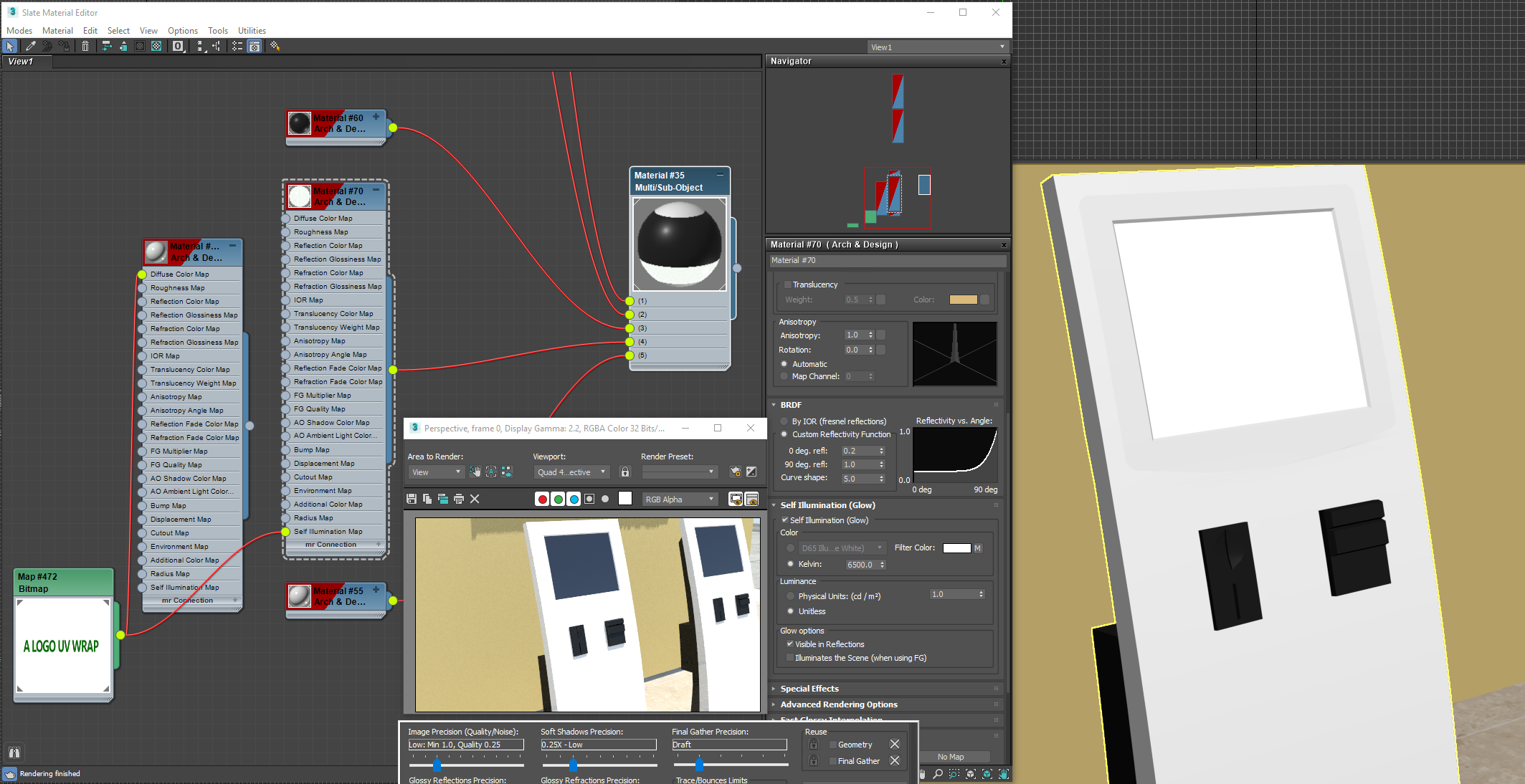 Self Illumination map not rendering - Autodesk Community- 3ds Max